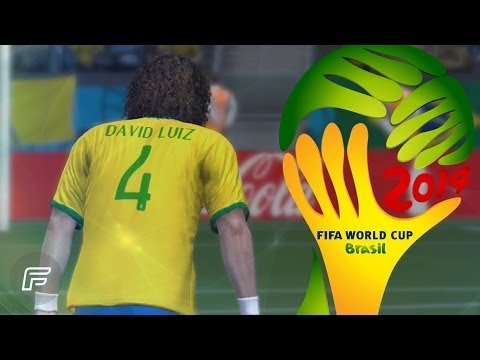 David Luiz Free Kick Remake Vs Colombia (2014 FIFA World Cup: Brazil)