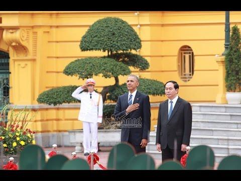 Lễ đón Tổng thống Mỹ Obama tại Phủ Chủ tịch nghi thức cấp cao