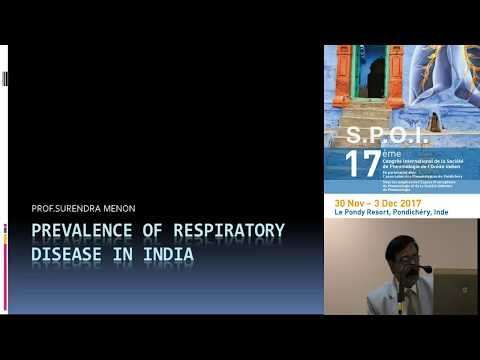 Prevalence of Respiratory Diseases in India Pr Menon, Head Pulmonary