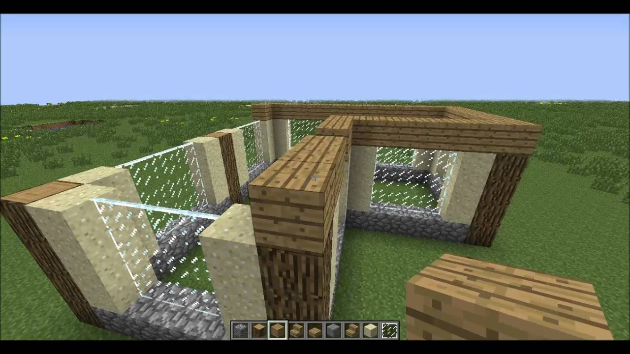 How To Make A Simple House In Minecraft Youtube