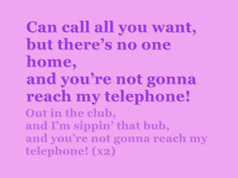 Telephone. Lady Gaga. Beyonce. lyrics