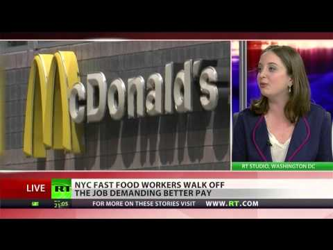 Fast-food workers go on strike