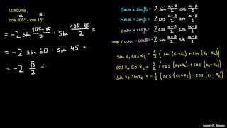 Faktorizacija trigonometričnih izrazov – naloga 2