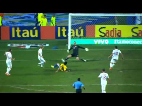 Gol Brasil vs Serbia 1-0 Amistoso Internacional | 6 de Junio 2014
