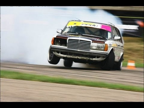 Legendary Diesel Mercedes W123 + SCANIA turbine @ Eastern European Drift Championship