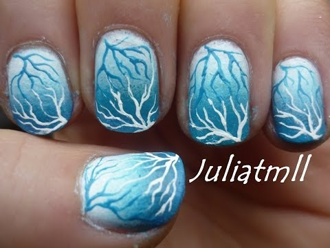 Winter Storm Nail Art Tutorial
