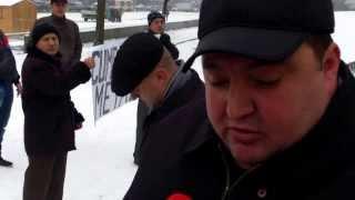Protest cu fier uzat la Guvern