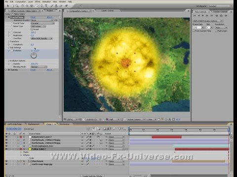 2d surface nuke/meteor explosion tut in after effects part 3