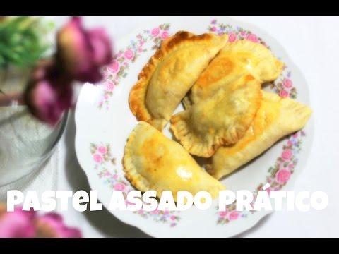 Pastel Assado - Massa Prática com dois ingredientes.