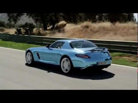 فيديو سيارة مرسيدس بنز SLS AMG كوبيه محرك كهربائي 2014