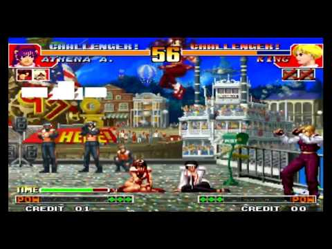 The King of Fighters 97 Athena Asamiya Desperation Moves