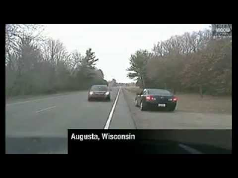 Car crashes directly into police: Dash cam video released: Local officer escapes serious injury