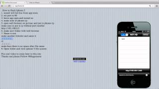 Iphone 5 Hack Read Any Root File On ANY Iphone