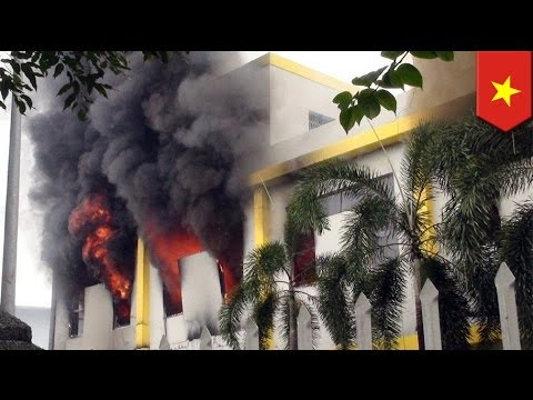 Foreign-owned factories in Vietnam burnt by anti-China protesters