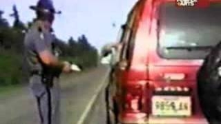 Conductor furioso con el guardia de tránsito