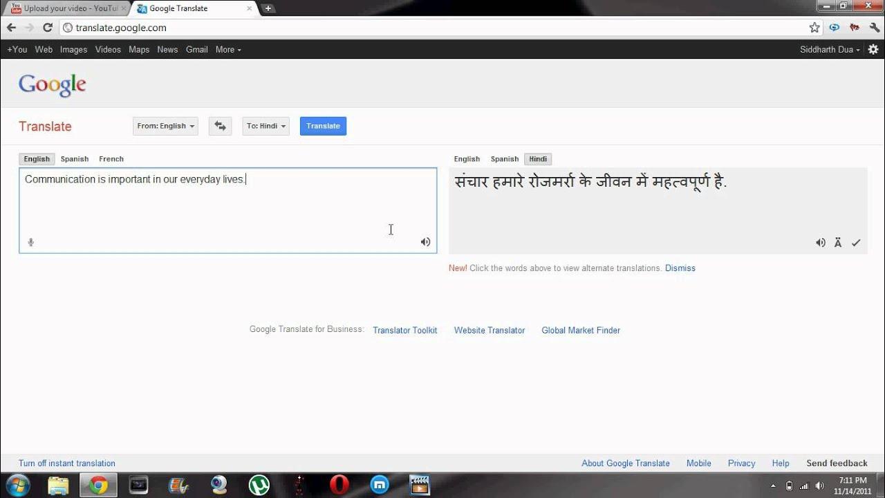 Translate English To Hindi Online With Google Translate ...