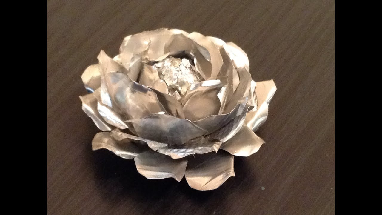 Recycle Tin Foil Flowers Youtube