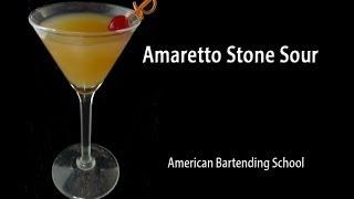 Amaretto Stone Sour Cocktail Drink Recipe