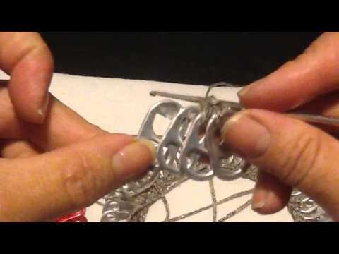 Tutorial - Como Fazer Um Colar de Lacres de Latinha - How To Make a Collar With Seal Soda