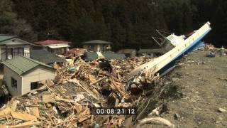 Japan Tsunami Aftermath Worst Hit Areas, Onagawa and Shizugawa - Full HD Screener Part 3