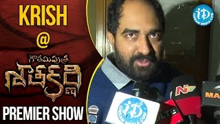 Krish At Gautamiputra Satakarni Premiere Show