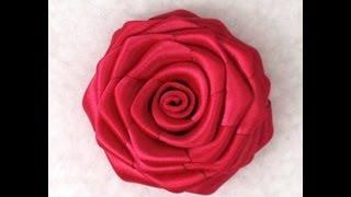 Ribbon Rose, Tutorial, DIY, How To Make