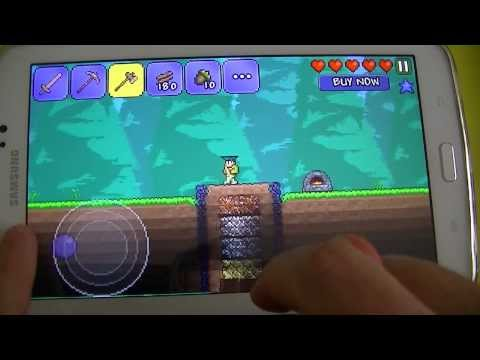 Gameplay Android Terraria - Samsung Galaxy Tab 3 T210 - PT-BR - Brasil