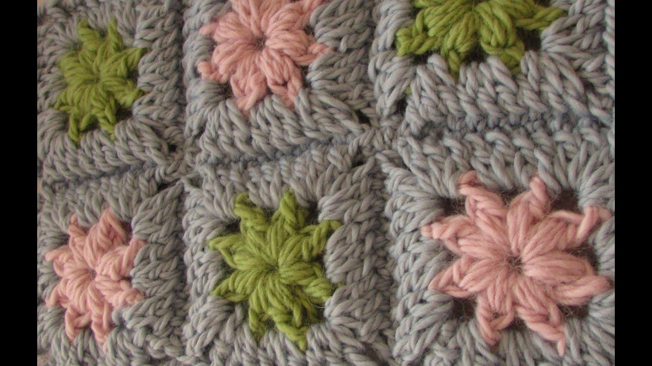 Easy Crochet Baby Blanket Tutorials : VERY EASY crochet chunky granny square - chunky baby ...