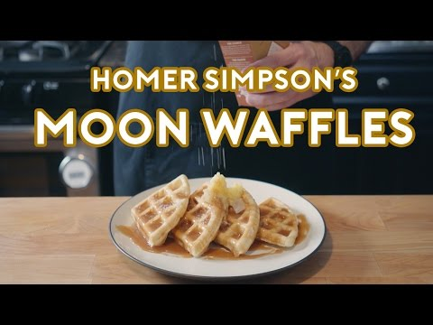 Homer Simpson's Patented Space Age Out-Of-This-World Moon Waffles!