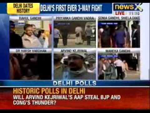 Delhi elections 2013 : Rahul Gandhi queues up to vote - NewsX