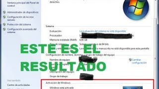Como Activar Windows 7 Cualquier Version (32bits 64 Bits