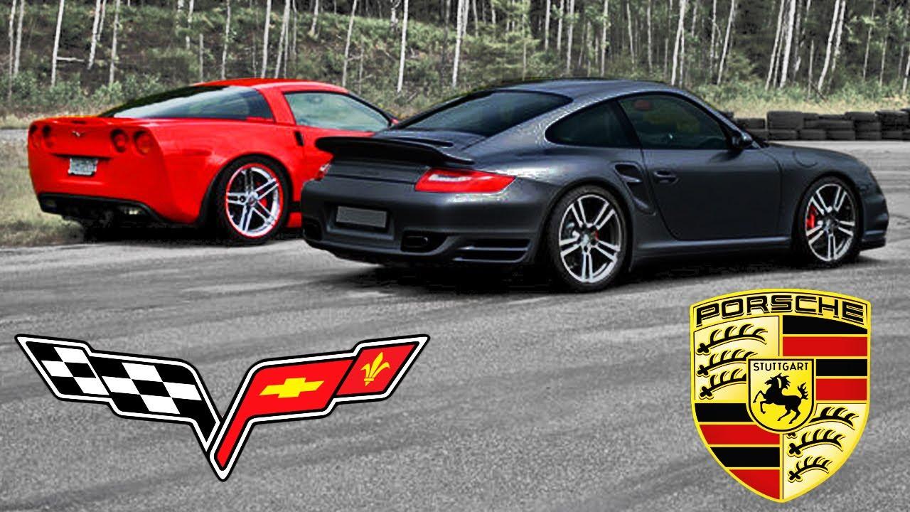 porsche 911 turbo vs chevrolet corvette z06. Black Bedroom Furniture Sets. Home Design Ideas