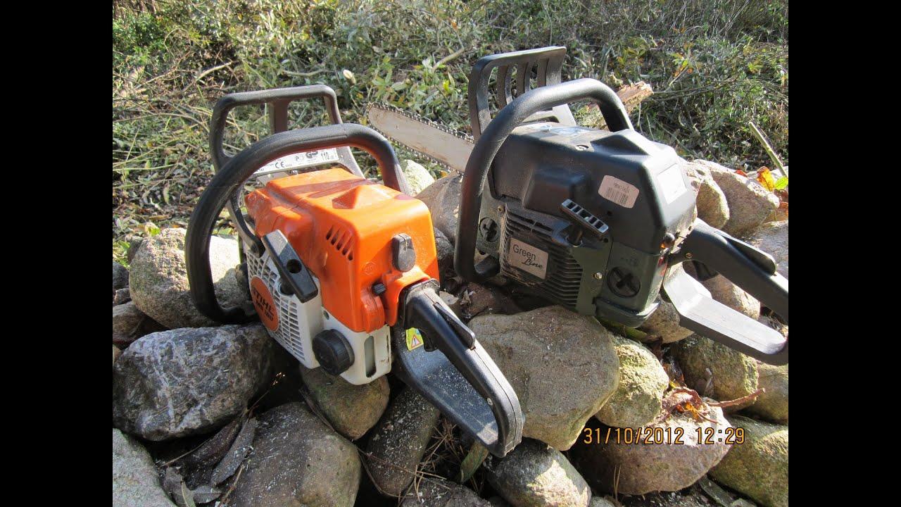 stihl ms 180 benzin motor kettens ge cut down a tree 2012 youtube. Black Bedroom Furniture Sets. Home Design Ideas