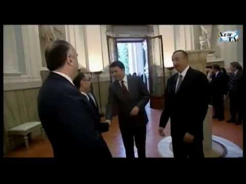 President Ilham Aliyev met with Italian Prime Minister Matteo Renzi