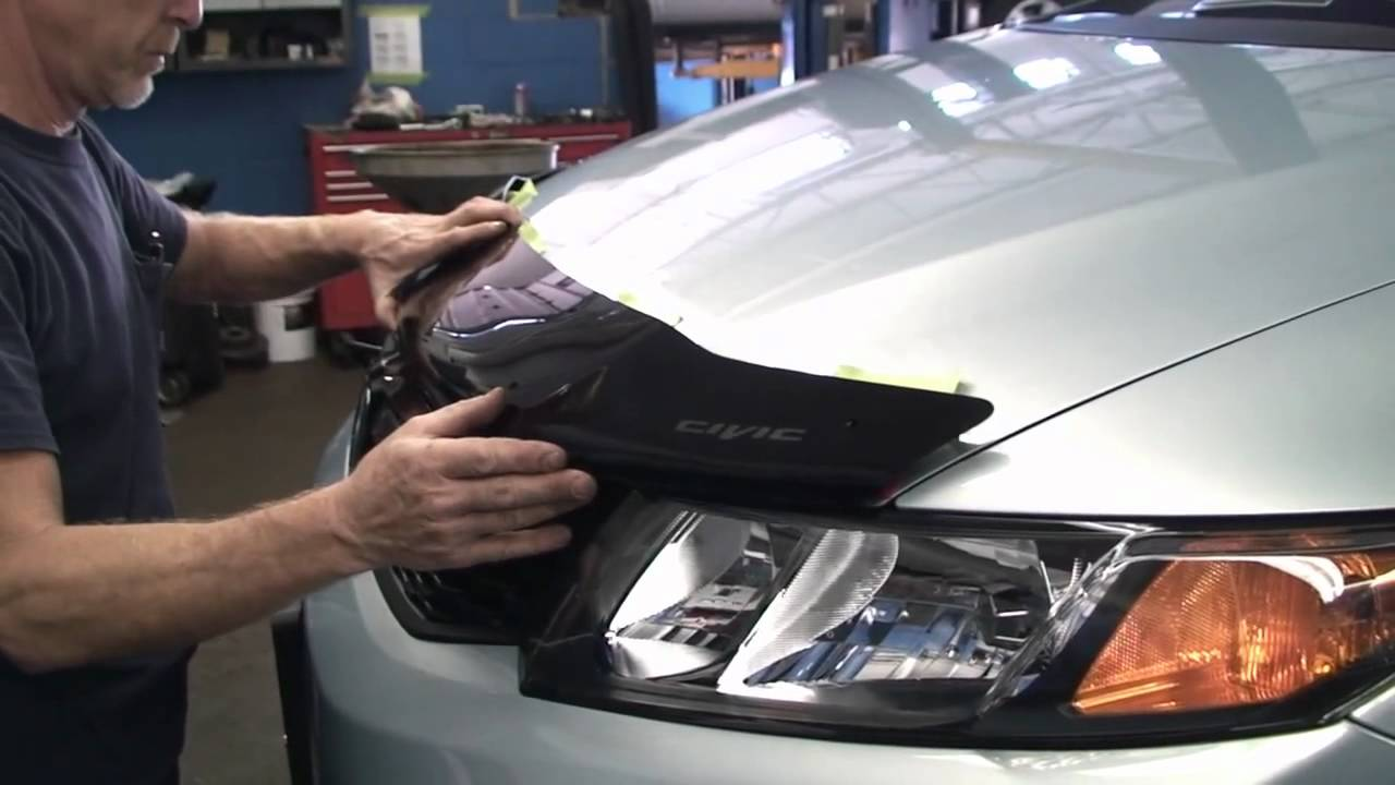 Episode #216 - 2012+ Honda Civic Air Deflector Installation - YouTube