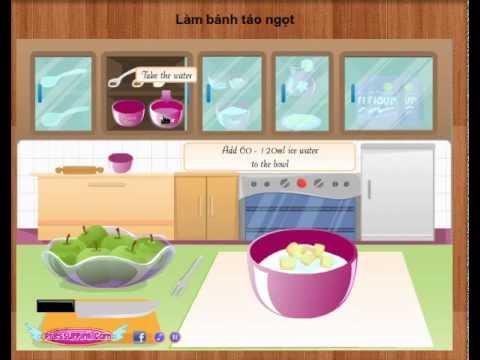 Game nau an - Làm bánh táo ngọt