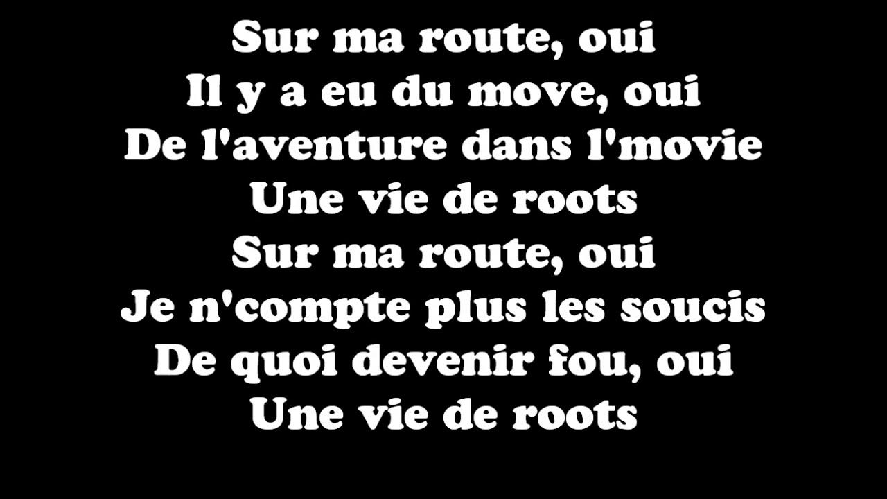 Black M Sur Ma Route Paroles Lyrics Youtube