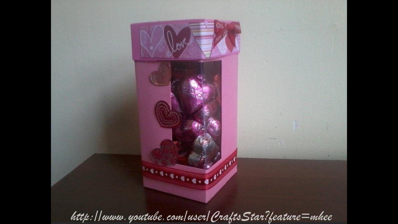 Original caja con chocolates scrapbook manualidades - Manualidades con cajas ...