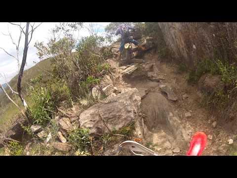Mulher Pelada trilha em Itabirito MG CRF 230 Primeira etapa 24-02-2013