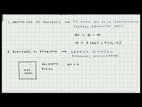 Ejercicio Aplicacion Primera Ley de la Termodinámica - Mi Profesor de Física - Video 081