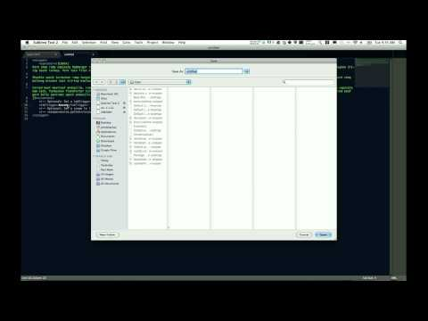 Web Tutorial - Sublime Text 2 Snippets
