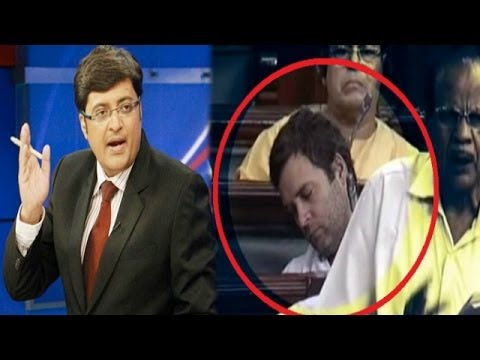 The Newshour Debate:  Rahul Gandhi CatNap (9th July 2014)