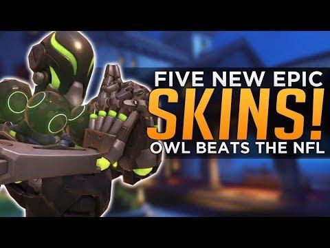Overwatch: NEW Zen & McCree Epic SKINS! - OWL Beats the NFL