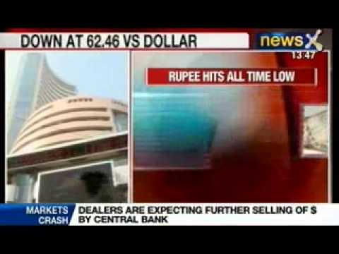 News X: Rupee falls to new record low against Dollar