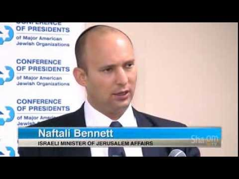 Naftali Bennett at the Conference of Presidents 11/19/13