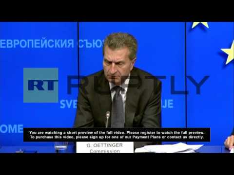 Belgium: Ukraine situation has no effect on European gas supply - EC Commissioner for Energy