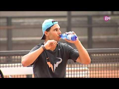 Entrenamiento de Rafa Nadal en Roma antes de jugar con Murray