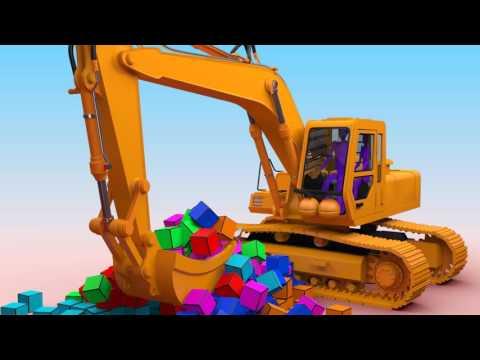 Hoạt hình xe cẩu | Máy xúc, máy đào | Hoạt hình vui nhộn cho bé