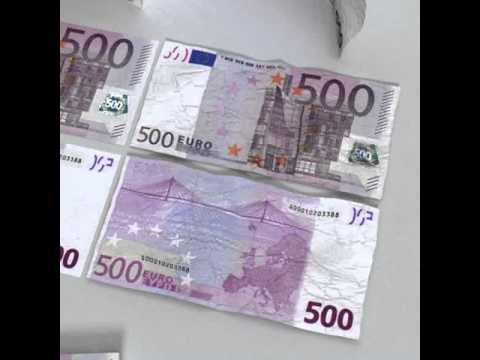 3D Model of 3D Model 500 Euros Banknote