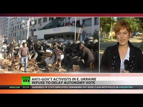 Donetsk will conduct referendum despite calls from Putin